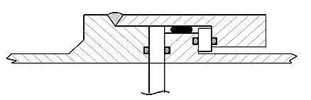 Double sealing system with the use of round cross-section rubber rings