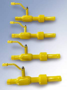 Insulating monolithic joint with operatingpressure up to 1.6 MPa with ball valve