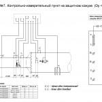 Схема №7. КИП на защитном кожухе (Dy < 700мм).